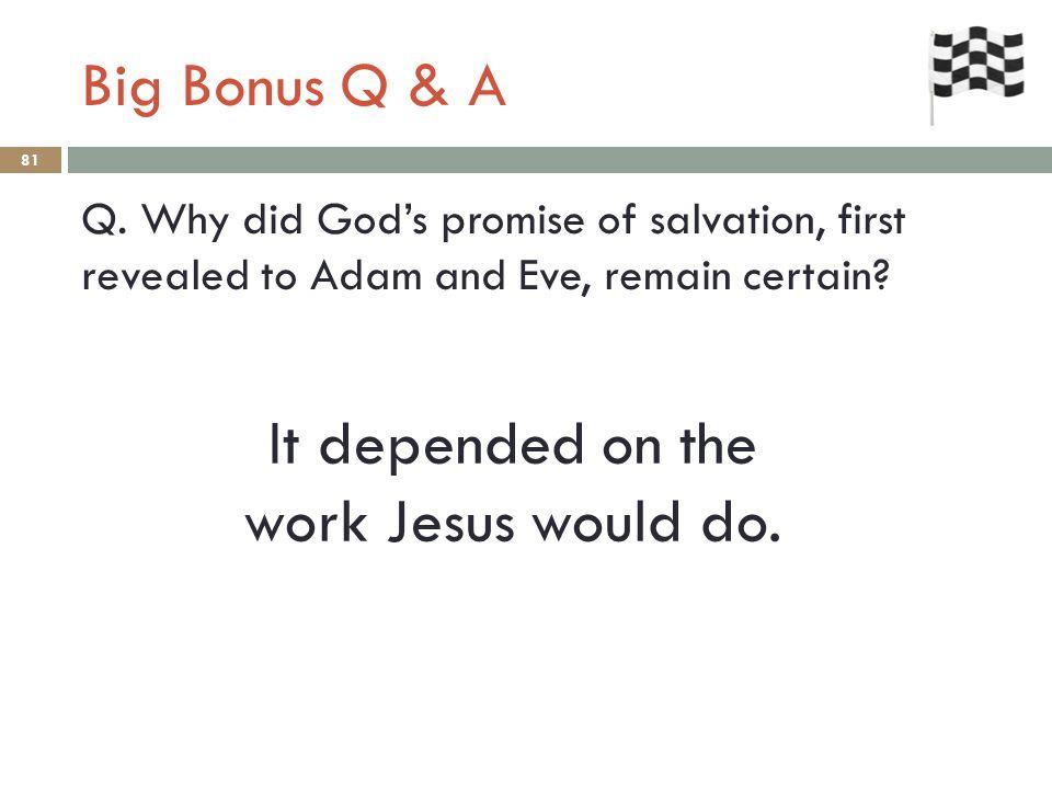 Big Bonus Q & A 81 Q.