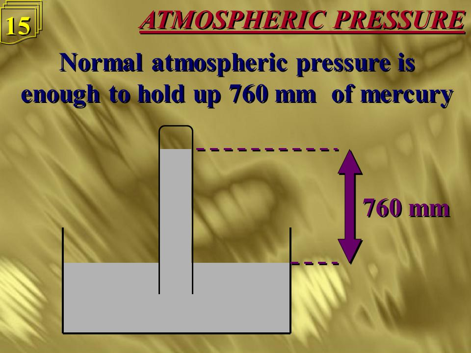 ATMOSPHERIC PRESSURE 14 The atmosphere is made up of gases, which like liquids exert pressure in all directions, including up The atmosphere is made up of gases, which like liquids exert pressure in all directions, including up