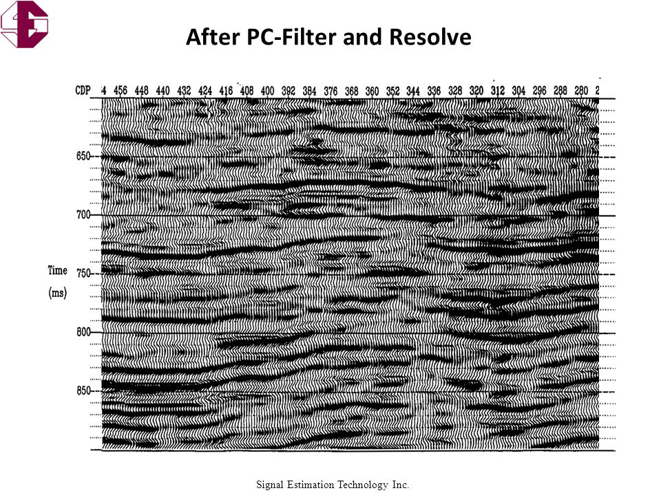 Signal Estimation Technology Inc. After PC-Filter and Resolve