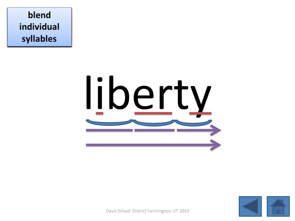 liberty blend together identify vowel patterns blend individual syllables identify vowel patterns blend individual syllables identify vowel patterns b