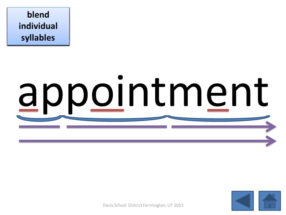 appointment blend together identify vowel patterns blend individual syllables identify vowel patterns blend individual syllables identify vowel patter
