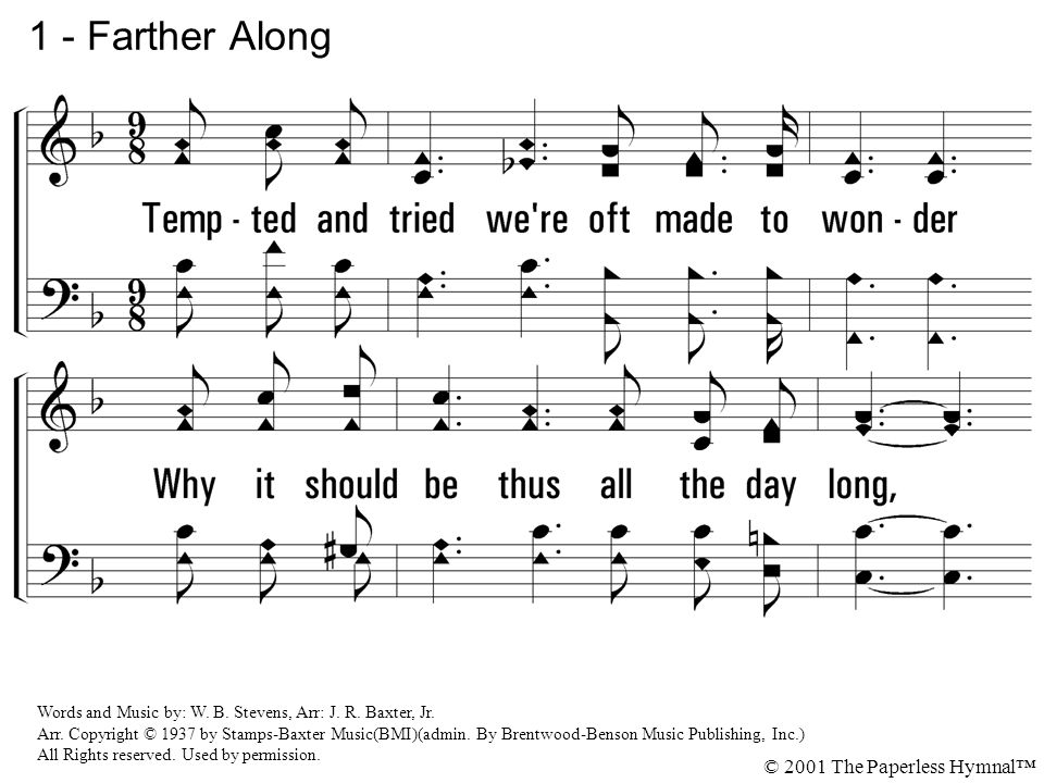 1 - Farther Along © 2001 The Paperless Hymnal™