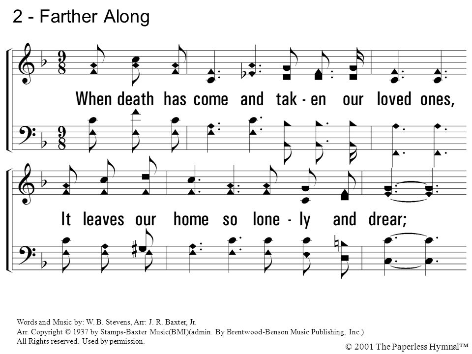 2 - Farther Along © 2001 The Paperless Hymnal™