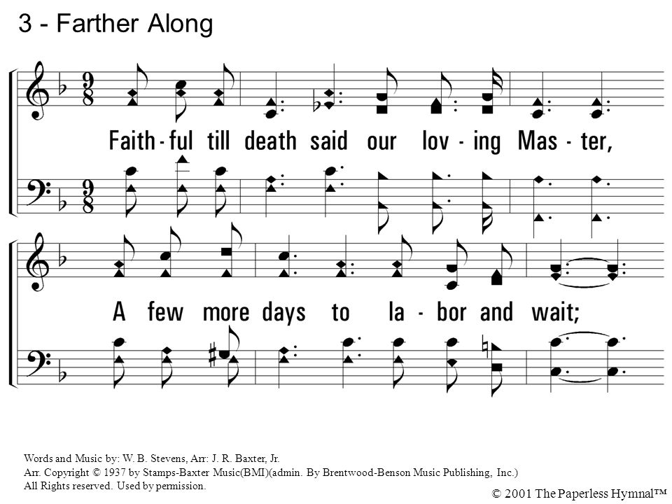 3 - Farther Along © 2001 The Paperless Hymnal™