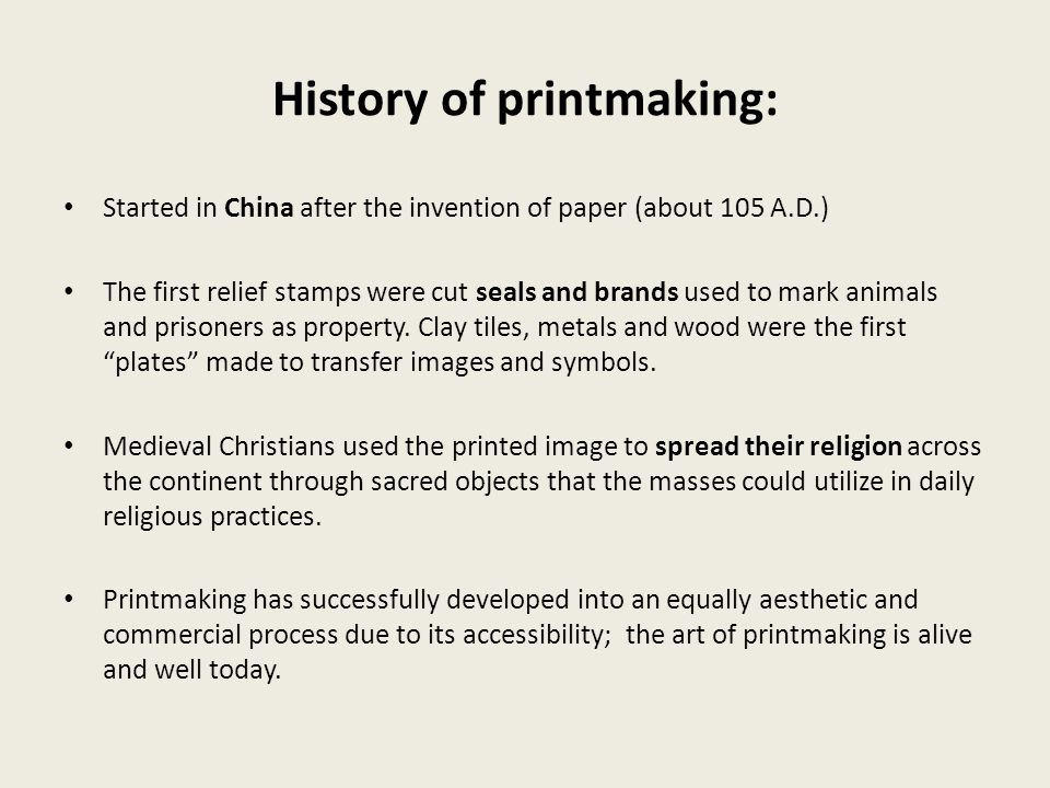 What is printmaking.