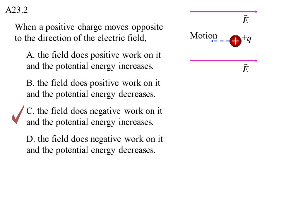 The electric potential due to a point charge approaches zero as you move farther away from the charge.