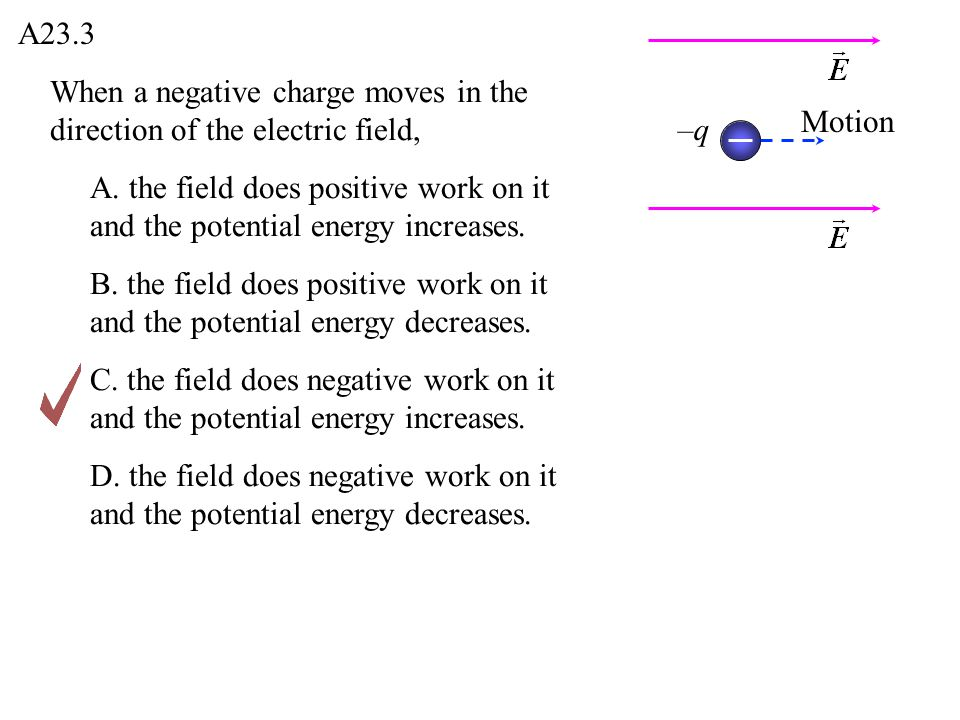 Consider a point P in space where the electric potential is zero.