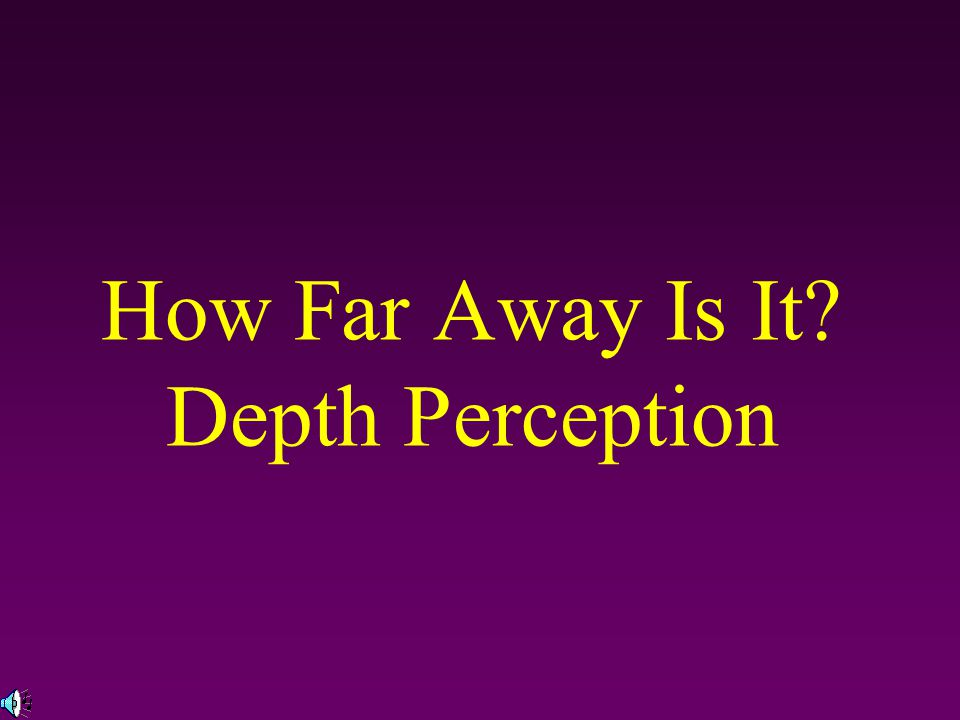 Depth Perception The ability to see objects in three dimensions although the images that strike the retina are two-dimensional, allows us to judge distance How do we see a 3-D world using only the 2-D retinal images.
