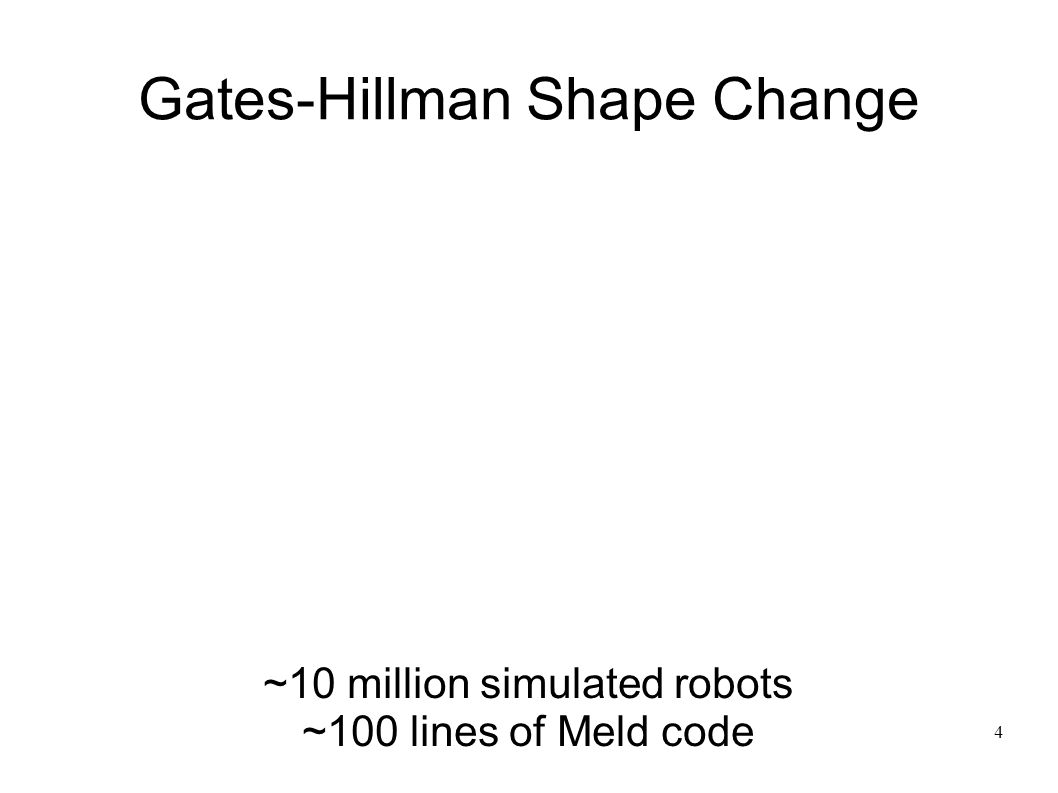 5 Localization ~8 thousand simulated robots ~250 lines of Meld code