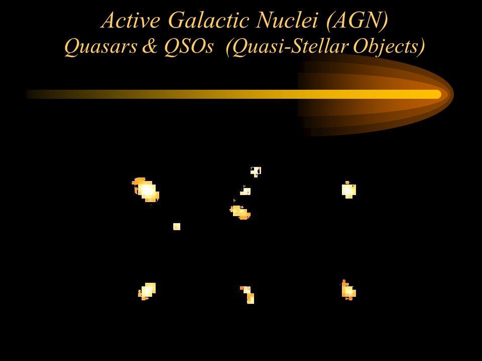 Active Galactic Nuclei (AGN) Quasars & QSOs (Quasi-Stellar Objects) Before HST