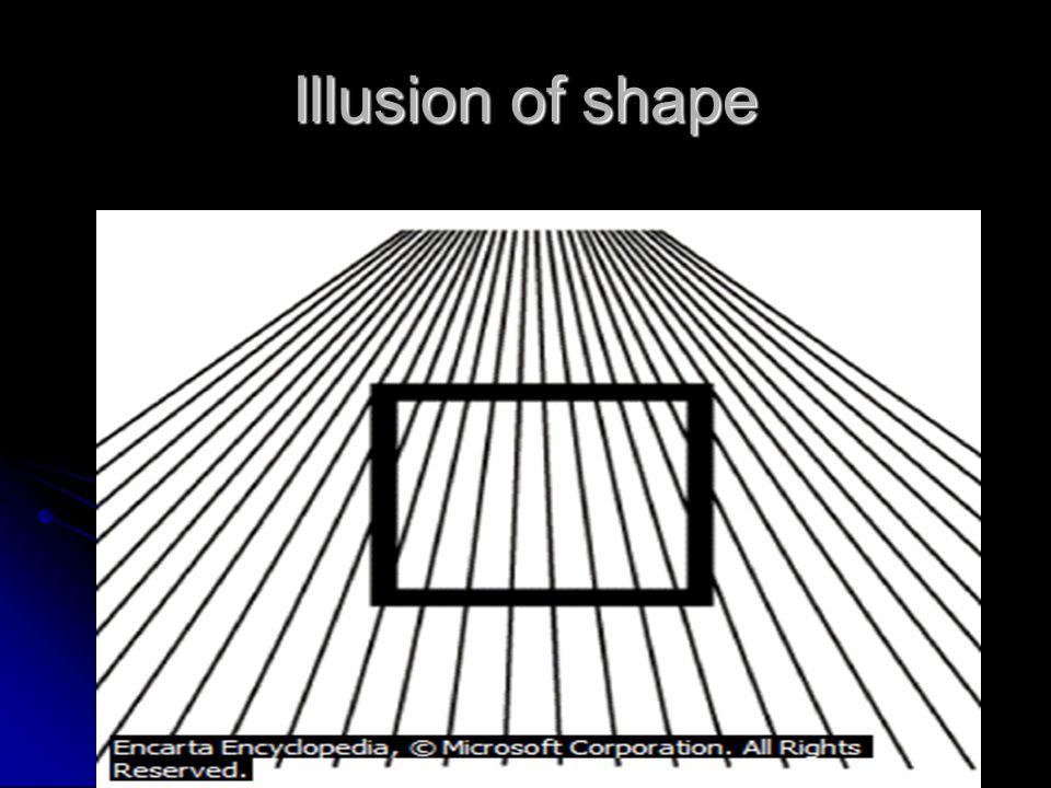 Illusion of shape
