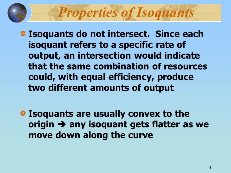 4 Properties of Isoquants Isoquants do not intersect.
