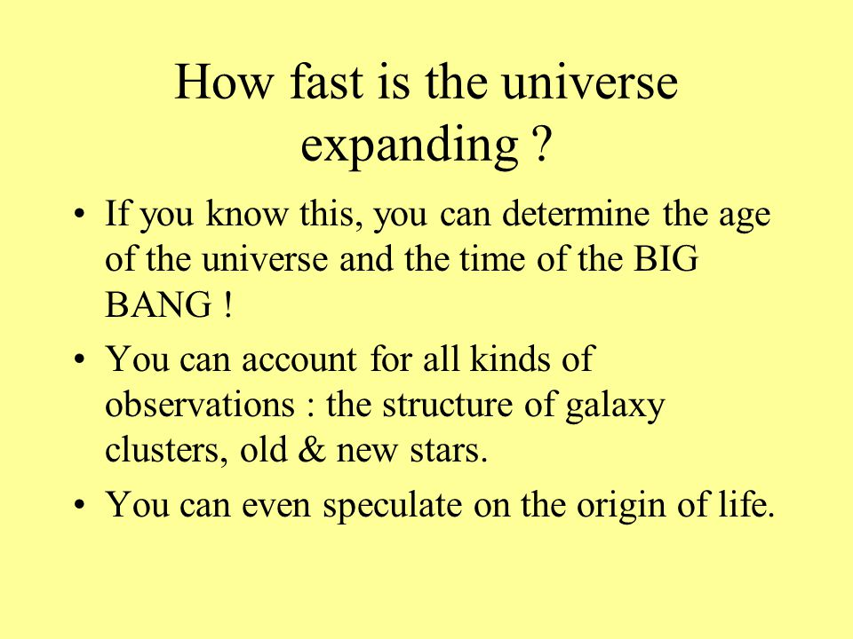 How fast is the universe expanding .