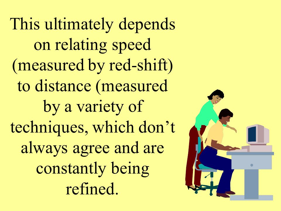This ultimately depends on relating speed (measured by red-shift) to distance (measured by a variety of techniques, which don't always agree and are constantly being refined.