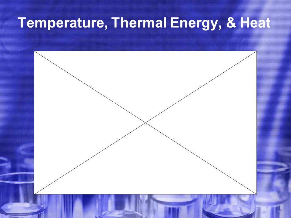 Temperature, Thermal Energy, & Heat