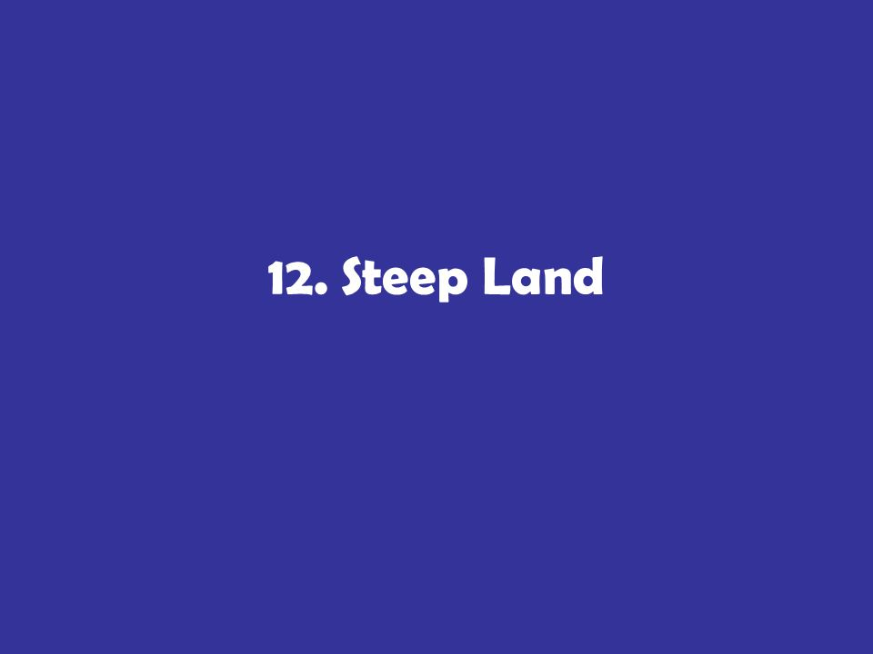 12. Steep Land