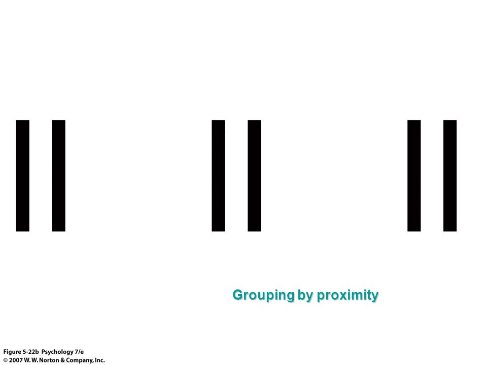 Grouping by proximity