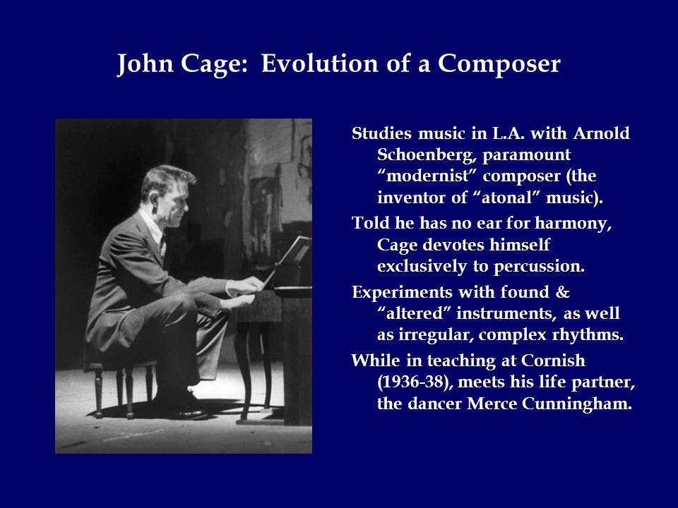 John Cage's Breakthrough Mid-20 th century psychology tells him gay = sick.
