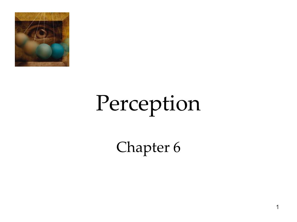 1 Perception Chapter 6
