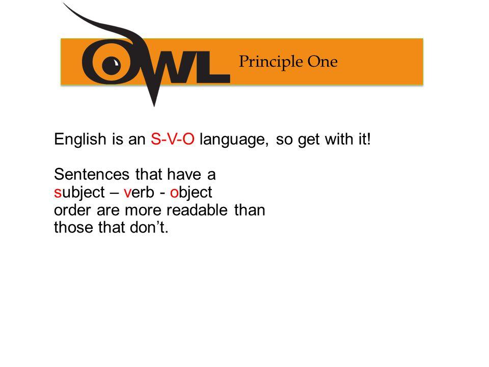 Principle One Example S V O The American Concrete Institute recommends the technique.