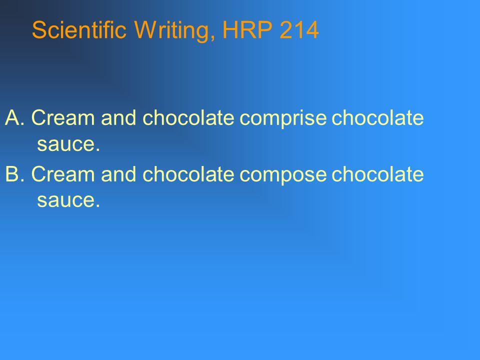 Scientific Writing, HRP 214 Compositional organization: 1.