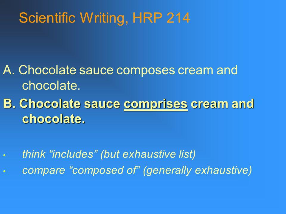 Scientific Writing, HRP 214 1.