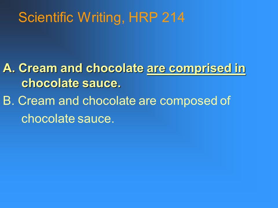 Scientific Writing, HRP 214 3.principle v.