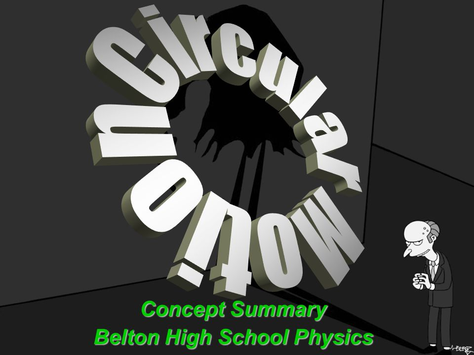 Concept Summary Belton High School Physics