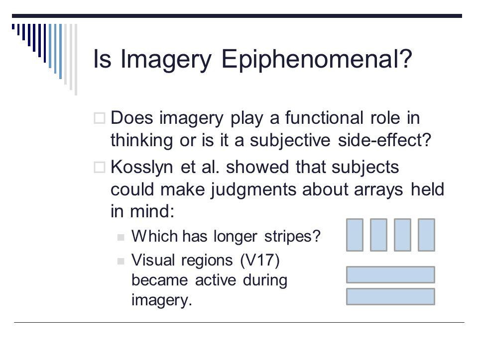 Is Imagery Epiphenomenal.