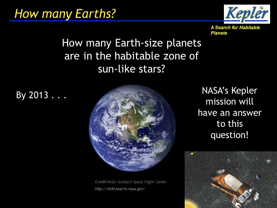A Search for Habitable Planets 33 What's next.