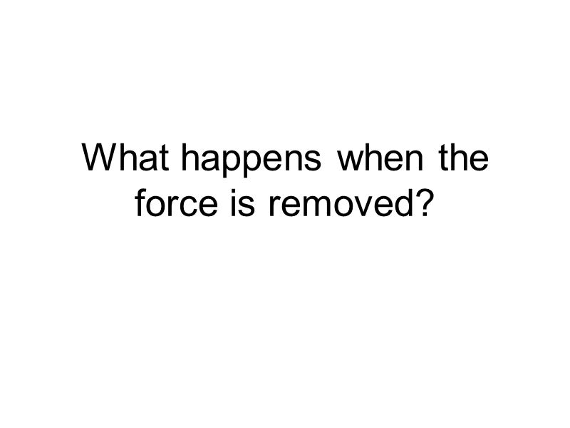 What happens when the force is removed