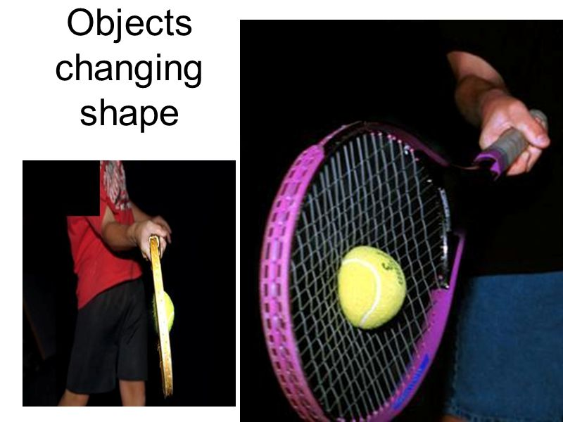 Objects changing shape