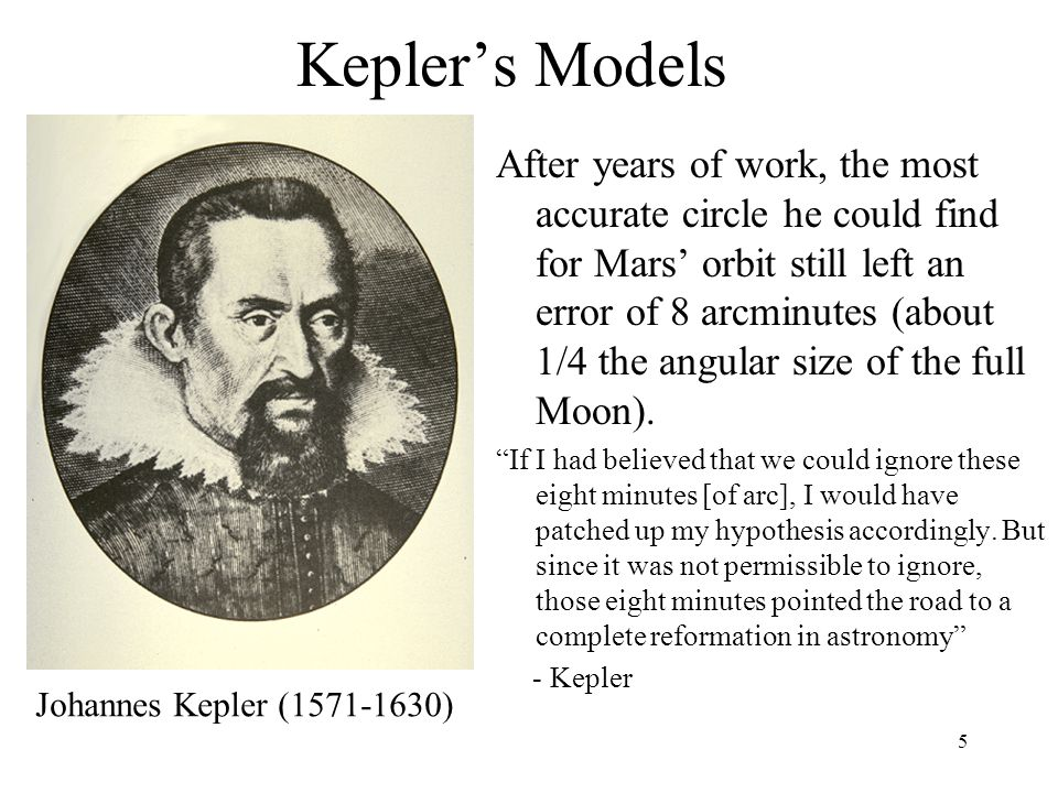 6 Kepler's Breakthrough Kepler's key discovery –planets do not orbit in circles but rather in ellipses.