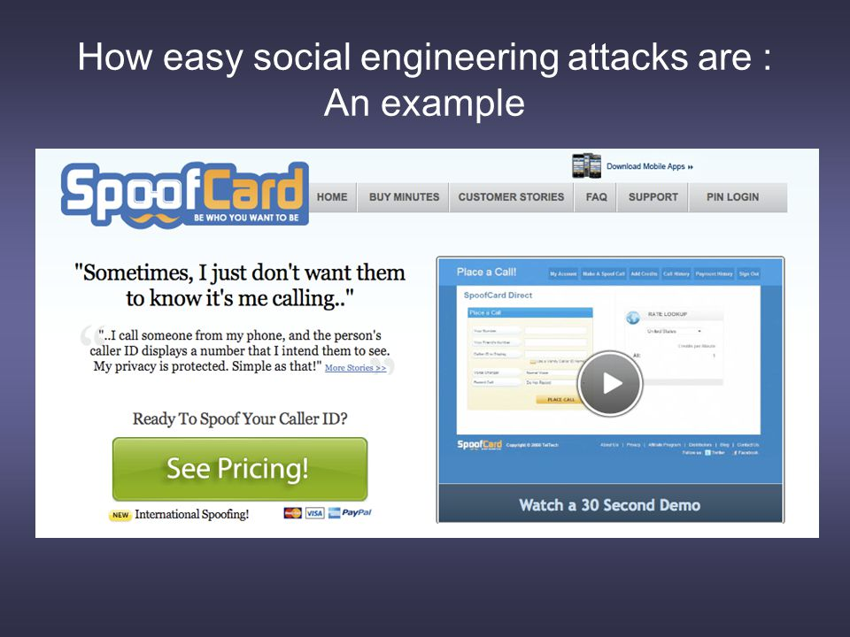 How easy social engineering attacks are : An example