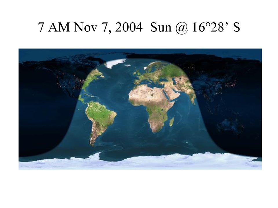 7 AM Nov 7, 2004 Sun @ 16°28' S