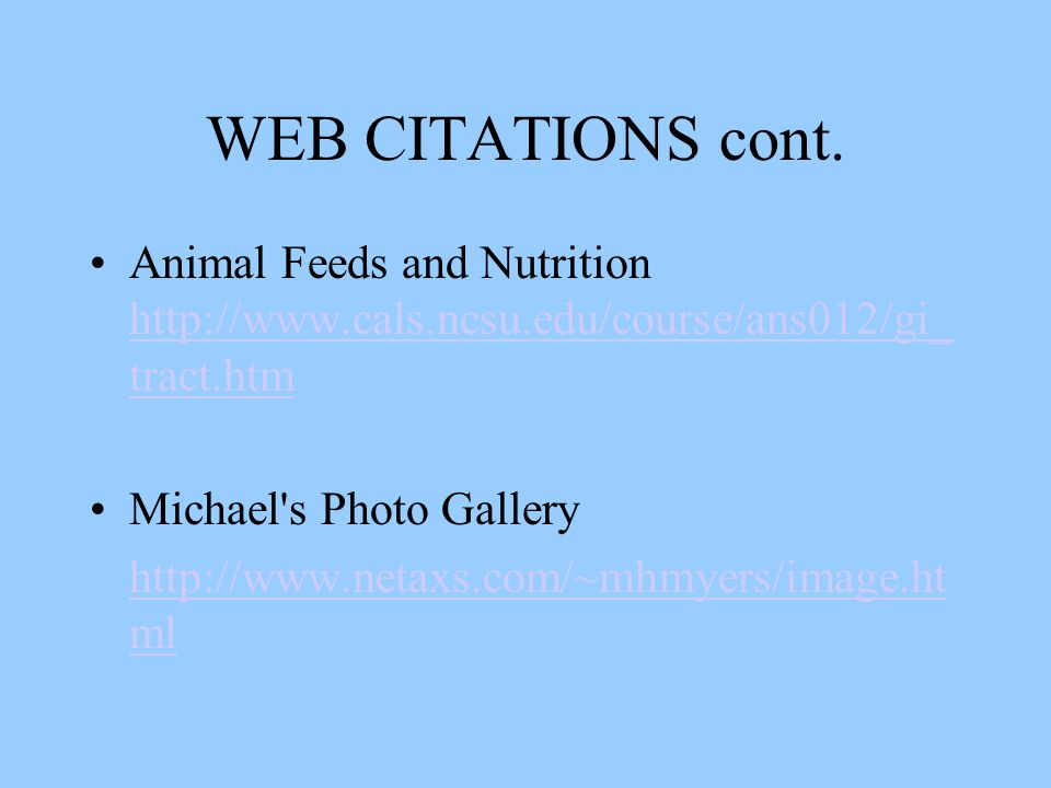 WEB CITATIONS cont.