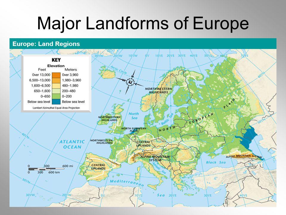 OwlTeacher.com Major Landforms of Europe Europe: Land Regions