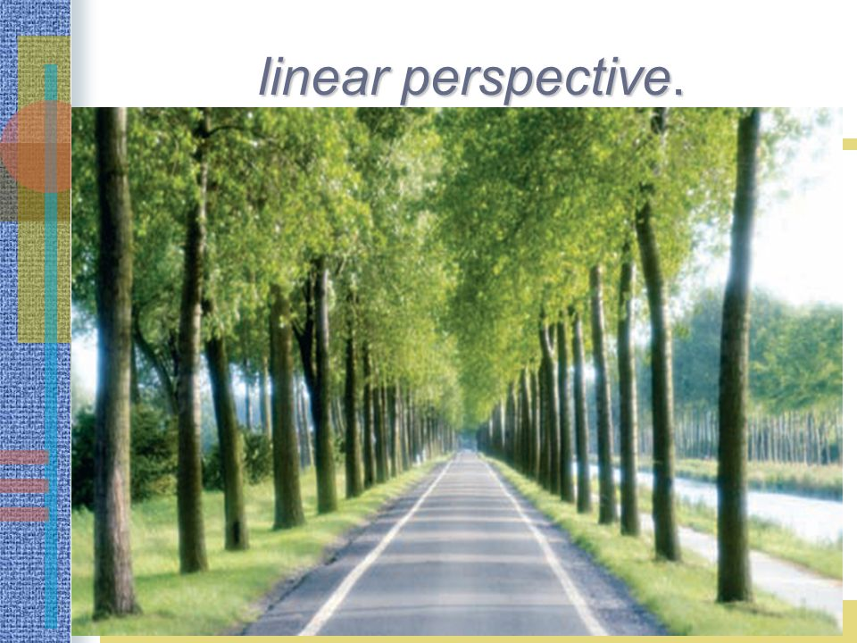 linear perspective.