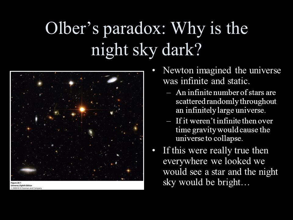 A resolution to Olber's paradox: Part 1