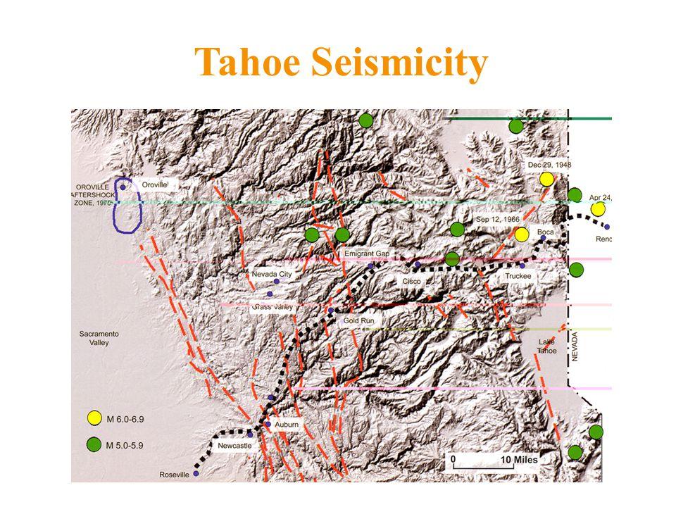 Tahoe Seismicity