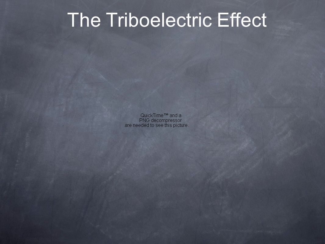 The Triboelectric Effect