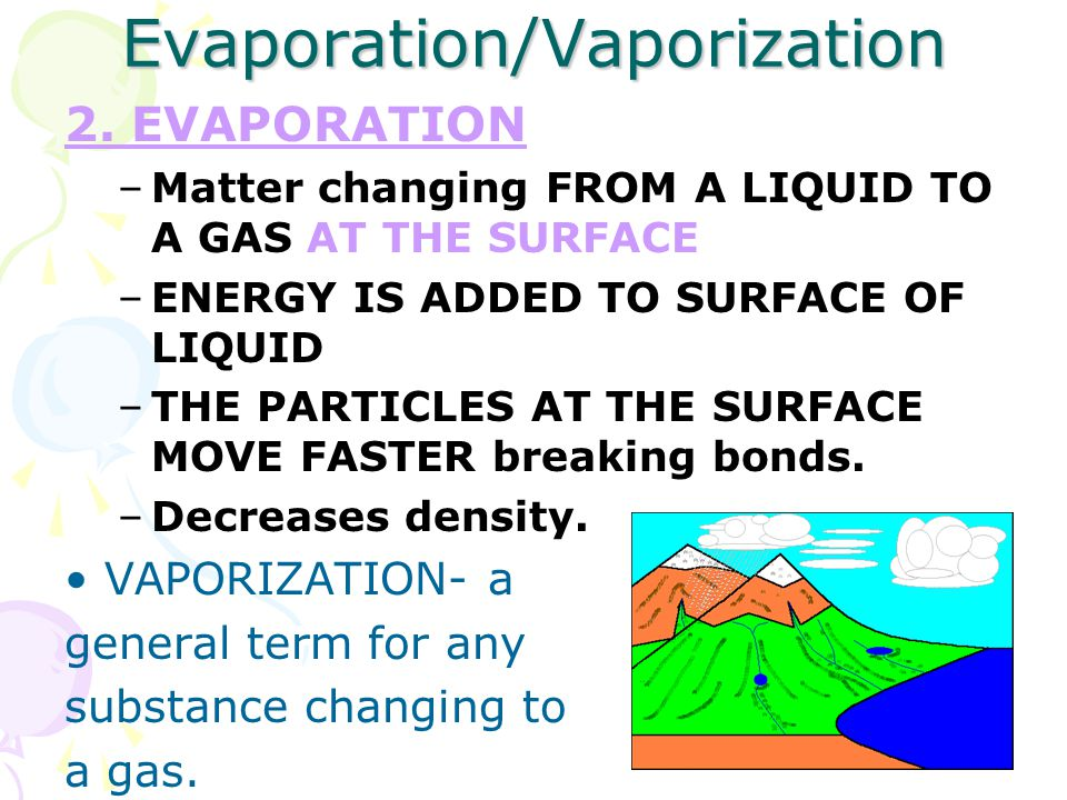 Evaporation/Vaporization 2.