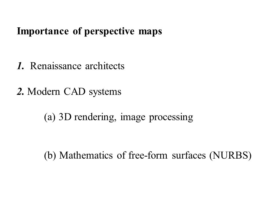 Why perspective maps .