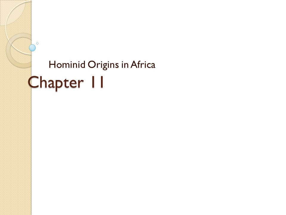 Time Line of Early African Hominids