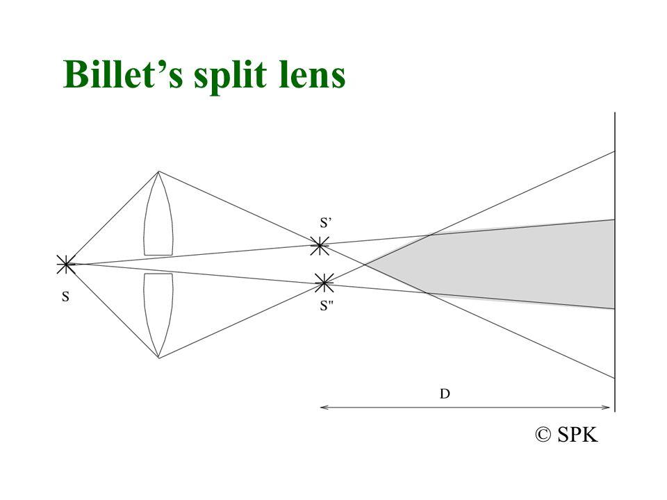 Billet's split lens © SPK
