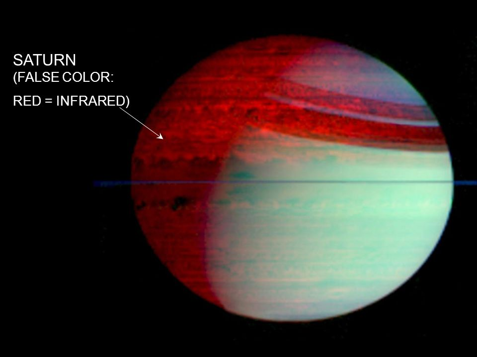 SATURN (FALSE COLOR: RED = INFRARED)