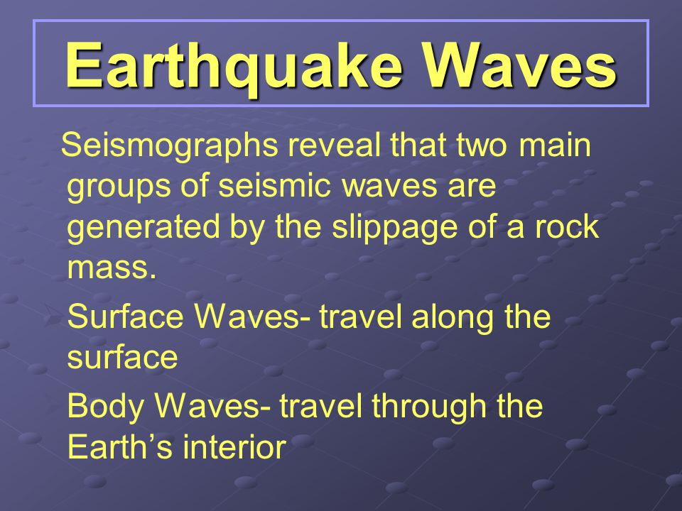 How Do Earthquakes Travel? Remember rock releases energy when it springs back after being deformed. This energy travels in the form of seismic waves.