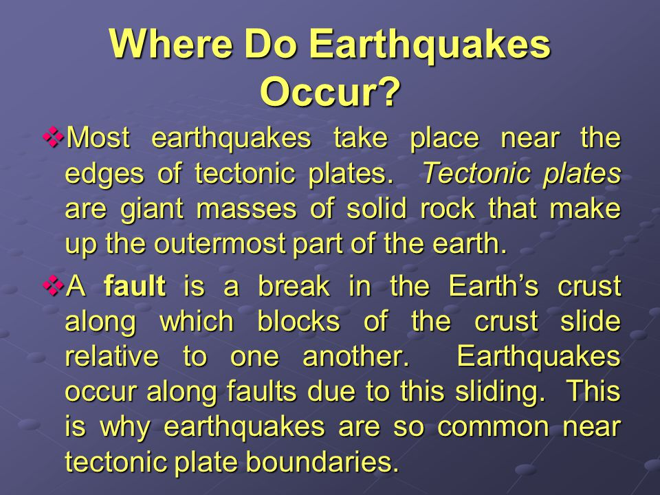 How Do Earthquakes Travel.Remember rock releases energy when it springs back after being deformed.