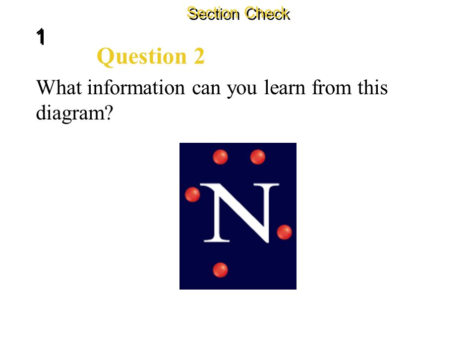 """1 1 Section Check Answer The answer is B. The """"cloud"""" includes all the regions where an electron might be found."""