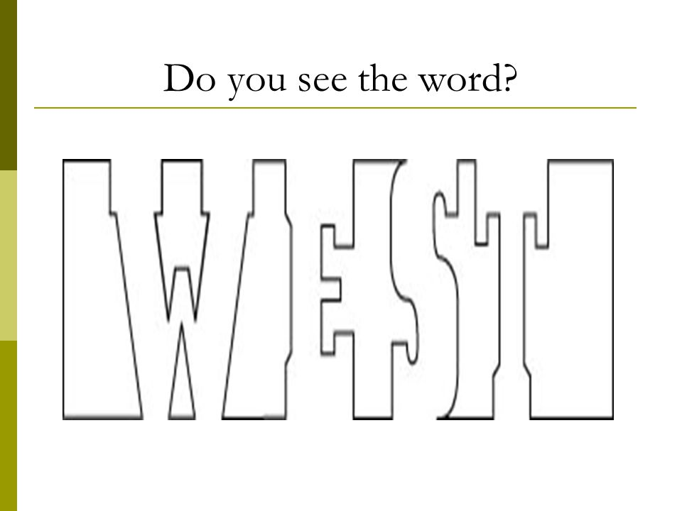 Do you see the word?